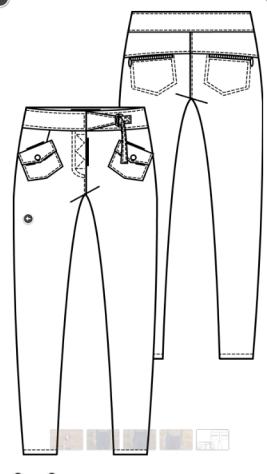 Knipsel broek hoge taille