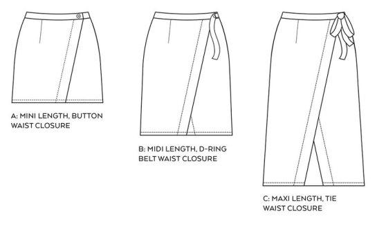 Nita Wrap Skirt PDF Sewing Pattern