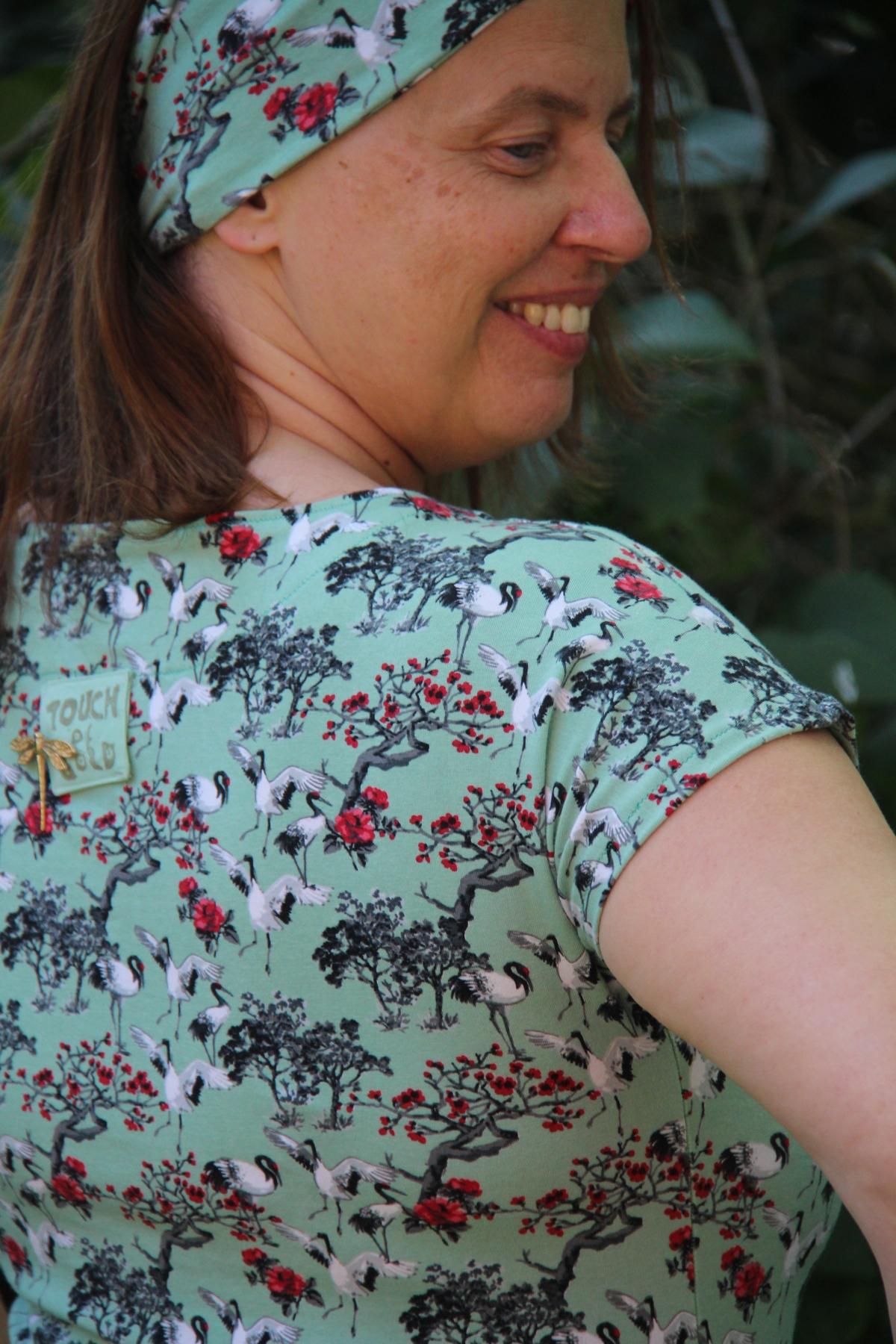 Een jurk met 'A touch ofgold'